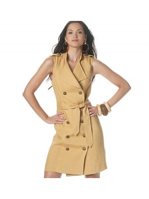 Rochie casual de tip trench
