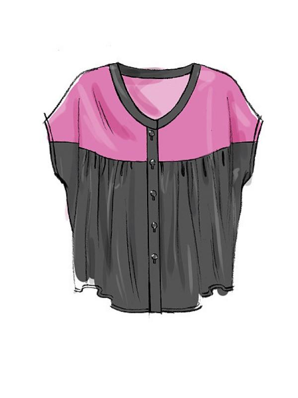 Bluză tip tunică